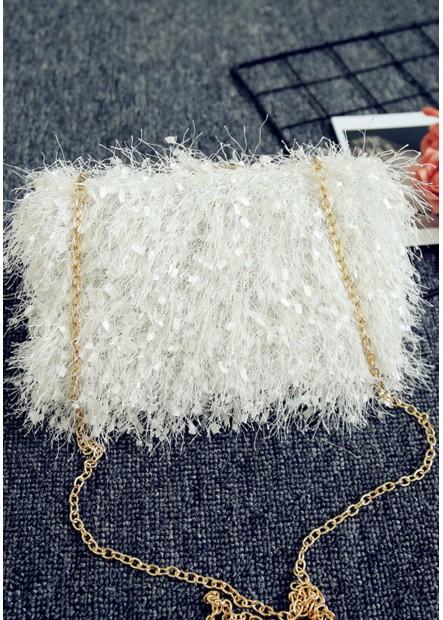 Fur Fashion Tassel Banquet One Shoulder Handbags T901556247307