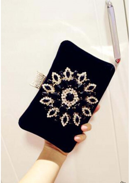 Diamond-Encrusted Evening Soft Face Lock Buckle Female Handbags T901556152549