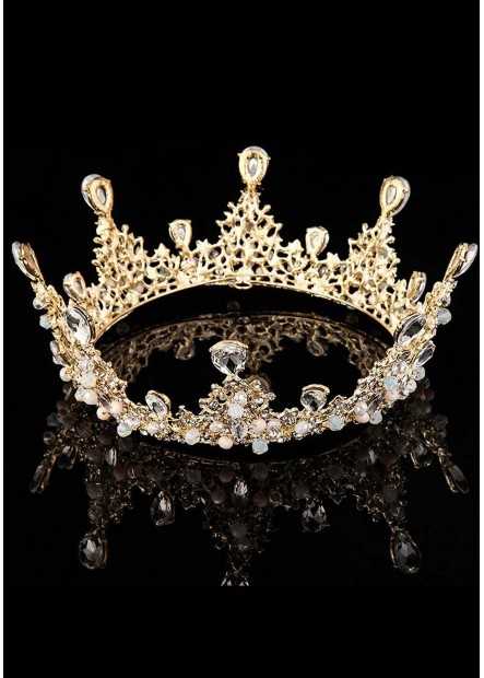 Round Diamond Bride Tiaras T901556604057