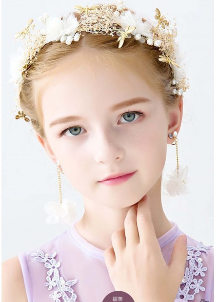 Beautiful Pearl Crystal Princess Tiaras T901556613656