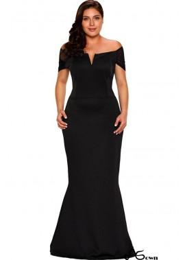 Black Off Shoulder Mesh Plus Size Maxi Mermaid Party Dress T901554362855