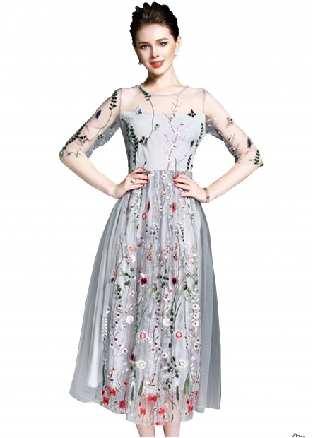 Embroidery Fairy Long Party Dresses T901553673015