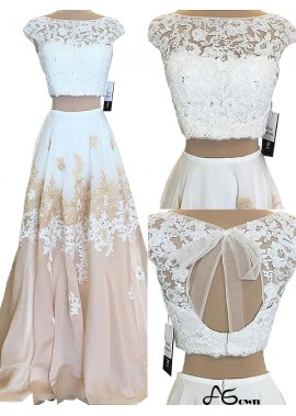 agown Two Piece Long Prom Evening Dress T801524703811