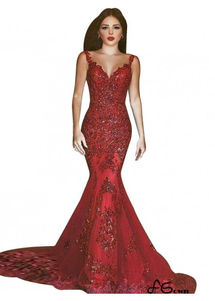Agown Mermaid Long Prom Evening Dress T801524703825