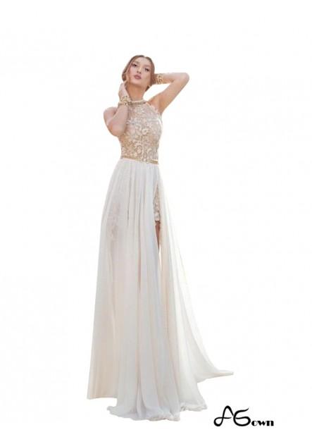 Agown Beach Long Wedding Evening Dresses