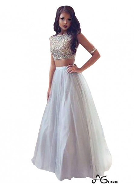 agown Two Piece Long Prom Evening Dress T801524704787