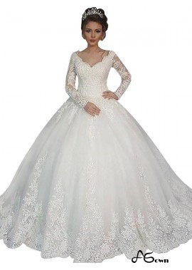 agown 2020 Long Sleeve Winter Ball Gowns With Sleeves UK