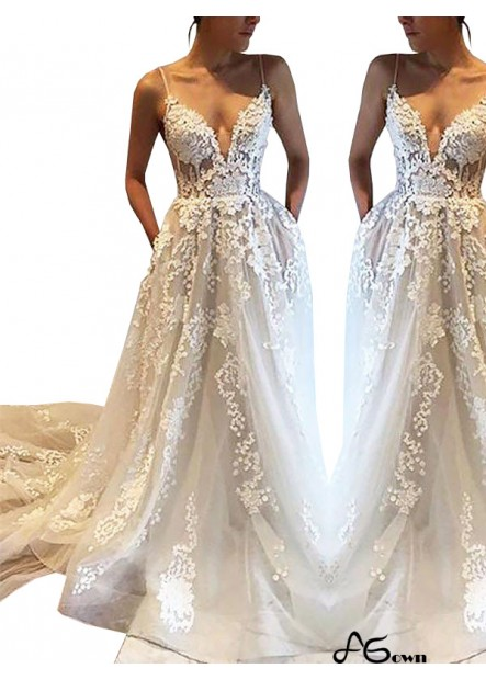 Agown 2021 Beach Wedding Dresses T801524714695