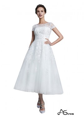 Agown 2021 Short Wedding Dress T801524714729