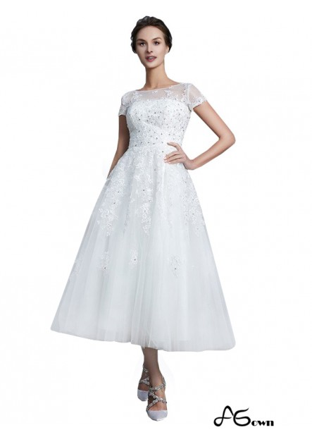 Agown 2021 Short Wedding Dress T801524714729