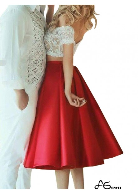Agown 2 Piece Homecoming Evening Dress T801524705886