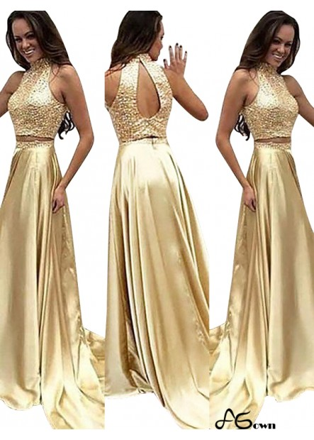 agown Two Piece Long Prom Evening Dress T801524704691