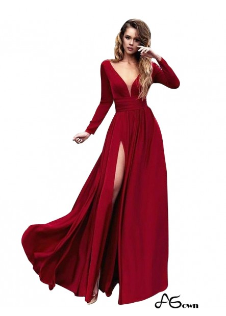 Agown Sexy Long Prom Evening Dress T801524703777