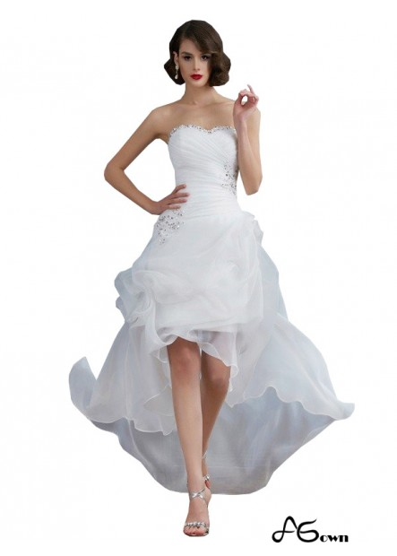 agown 2020 Beach Short Wedding Dresses T801524715033