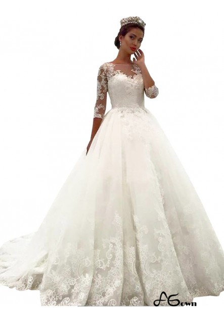 Agown 2021 Vintage Princess Lace Winter Ball Gowns
