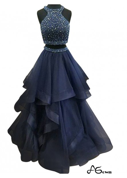 agown Two Piece Long Prom Evening Dress T801524703666