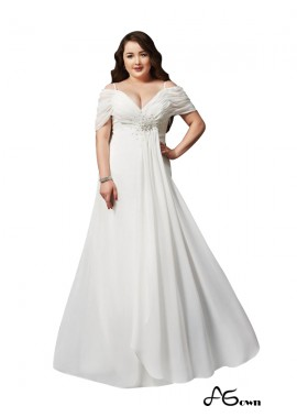 agown White Long Plus Size Prom Evening Dress T801524704103