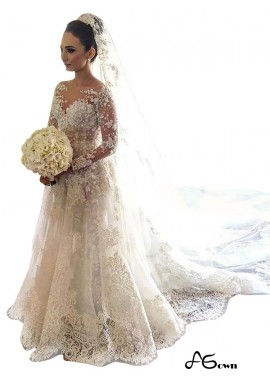 agown 2020 Lace Wedding Dress T801524714711