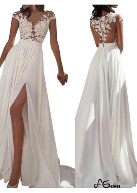 agown White Summer Beach Simple Wedding / Evening Dresses