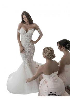 agown 2020 Fishtail Winter Wedding Dress Online
