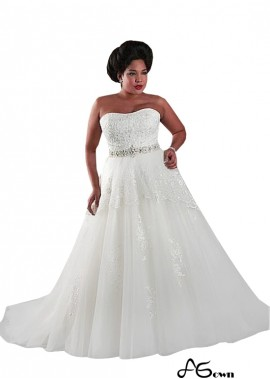 Agown Plus Size Wedding Dress T801525325517