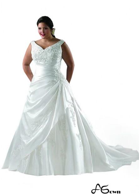 Agown Plus Size Wedding Dress T801525328852
