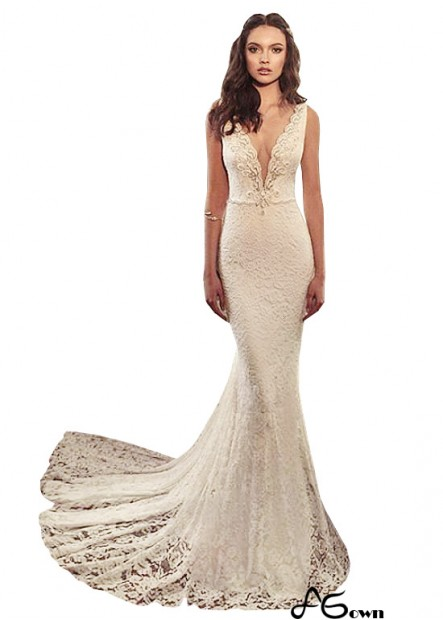 Agown Beach Wedding Dresses T801525317875