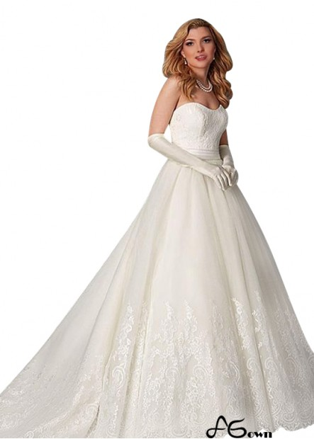Agown Plus Size Wedding Dress T801525335722