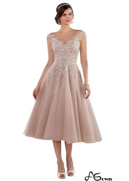 Agown Short Tea Length Wedding Dress UK Sale