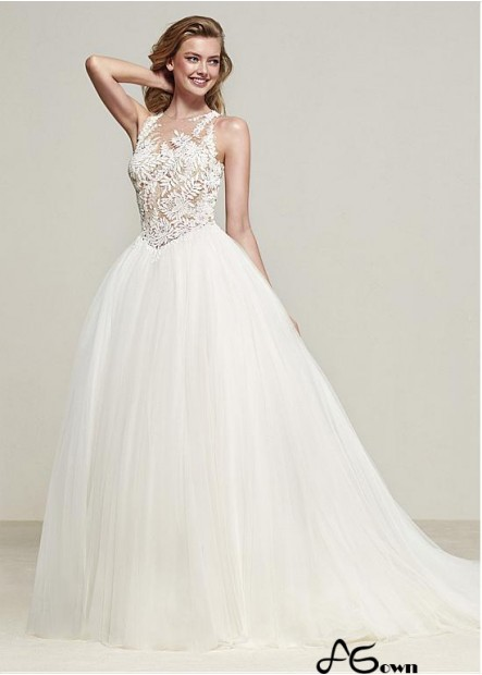 Agown Lace Wedding Dress T801525383805
