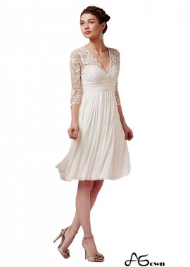 Buy Simple Short Beach Wedding Dresses With Sleeves UK Online