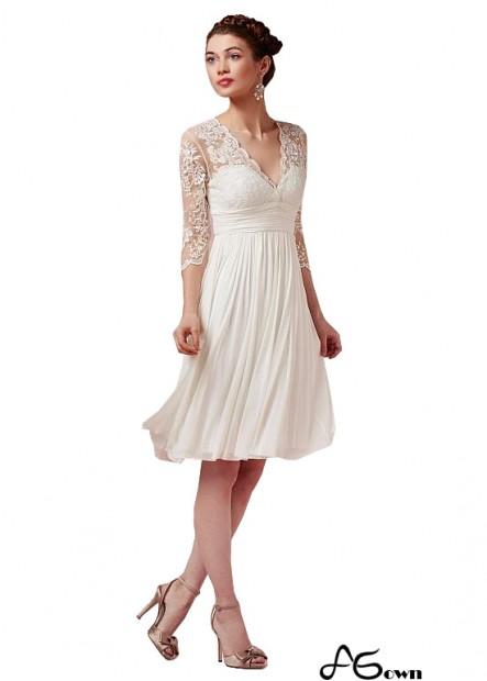 Buy Simple Short Beach Wedding Dresses With Sleeves UK Online