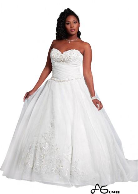 Agown Plus Size Wedding Dress T801525387155