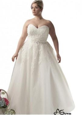 Agown Plus Size Wedding Dress T801525387320