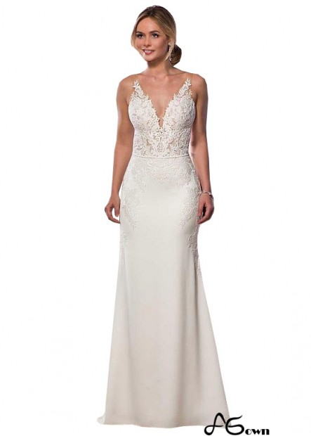 Agown Beach Wedding Dresses T801525318463