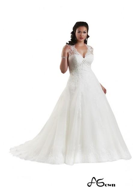 Agown Plus Size Wedding Dress T801525330496