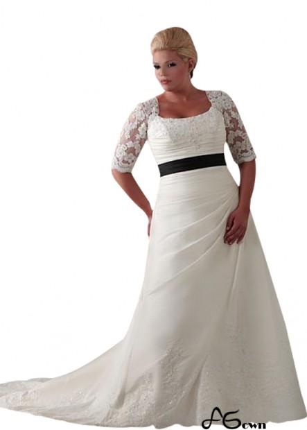 Agown Plus Size Wedding Dress T801525328844