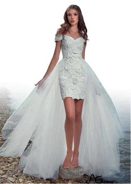 Agown Beach Short Wedding Dresses T801525320213