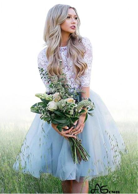Agown Beach Short Wedding Dresses T801525320210