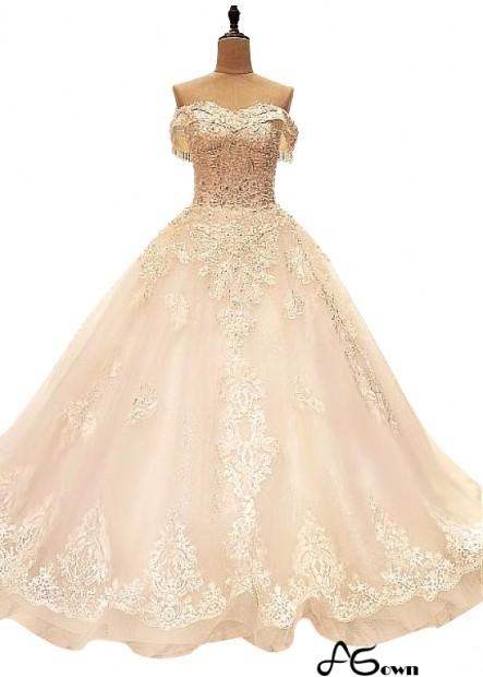 Agown Plus Size Wedding Dress T801525320947