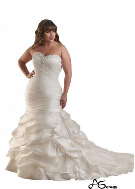 Agown Plus Size Wedding Dress T801525326247
