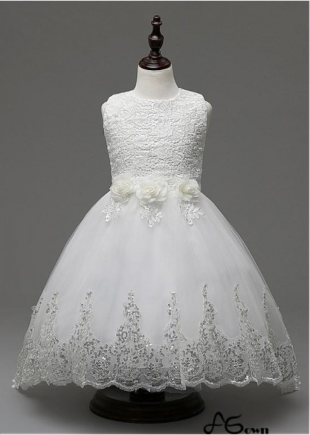 Agown Flower Girl Dresses T801525394221