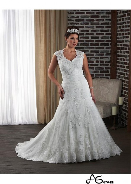 Agown Plus Size Wedding Dress T801525325514