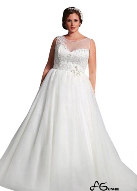 Agown Plus Size Wedding Dress T801525387149