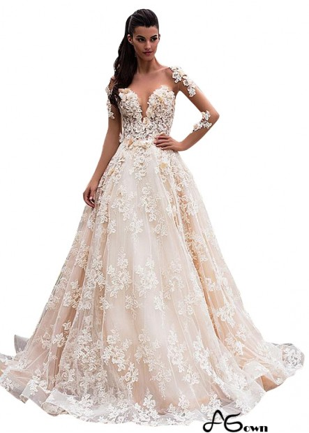 Agown Beach Wedding Ball Gowns T801525386385