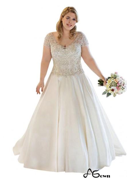Agown Plus Size Wedding Dress T801525319044