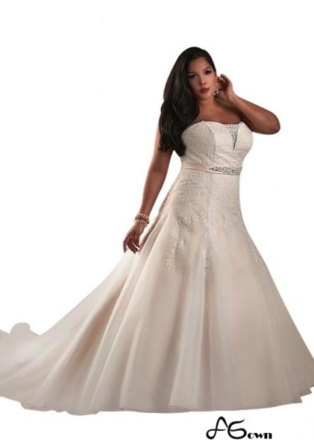 Agown Plus Size Wedding Dress T801525328841