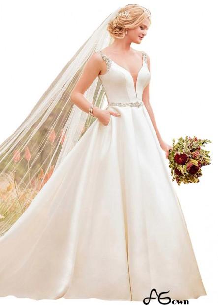 Agown Plus Size Wedding Dress T801525335824