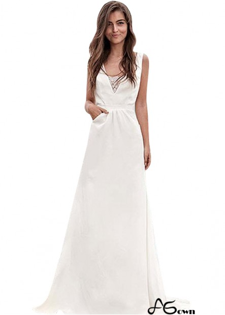 Agown Beach Wedding Dresses T801525320218