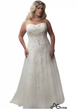 Agown Plus Size Wedding Dress T801525324872